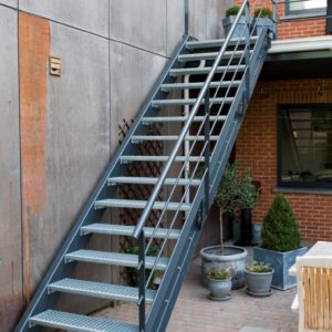 metalen trap