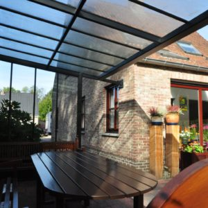 terrasoverkapping met glas